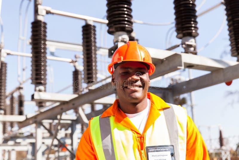 Портрет инженер-электрика стоковые изображения