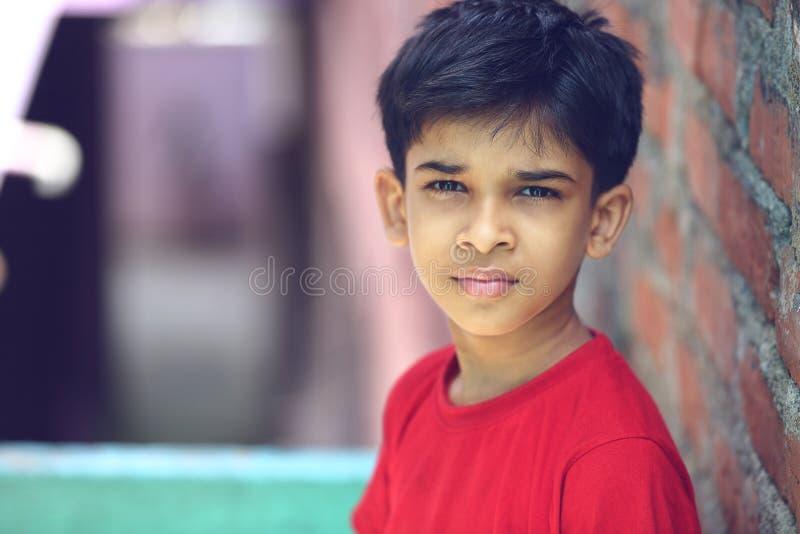 Портрет индийского мальчика стоковое фото rf