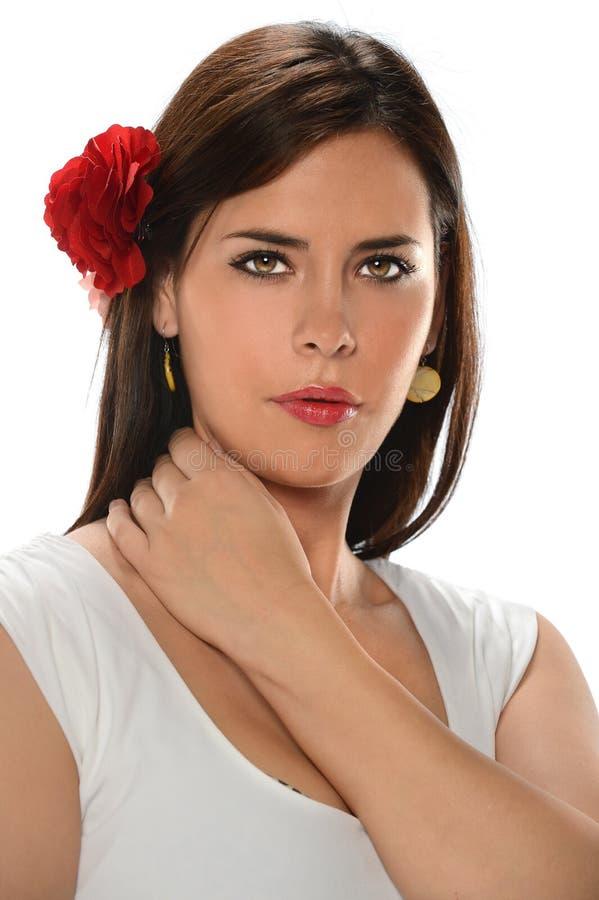 Портрет испанской женщины стоковое фото