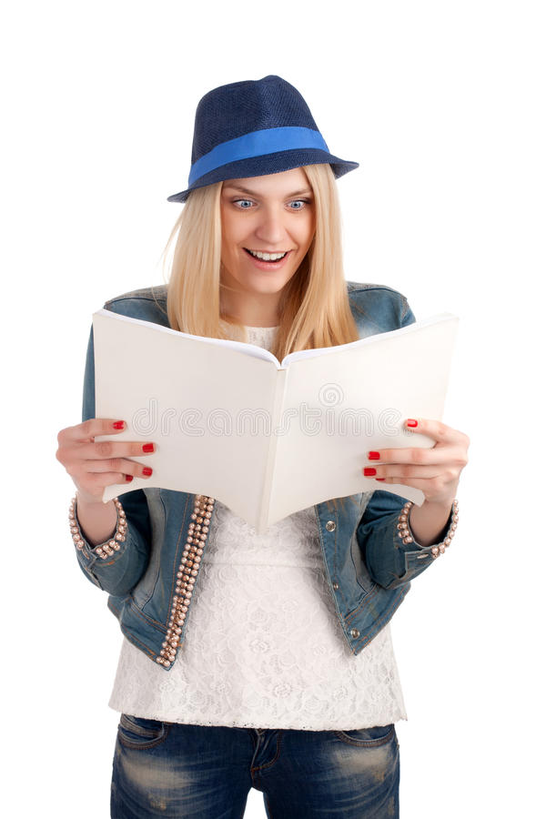 Кассета сотрястенных женщин чтения дамы стоковые изображения