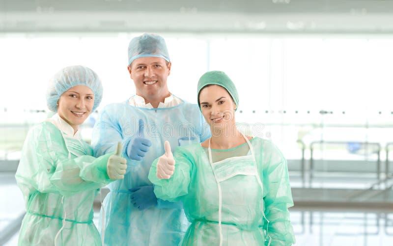 Портрет команды хирурга стоковое изображение