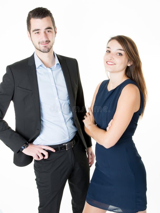 Портрет конечно предпринимателей детенышей smiley стоковая фотография