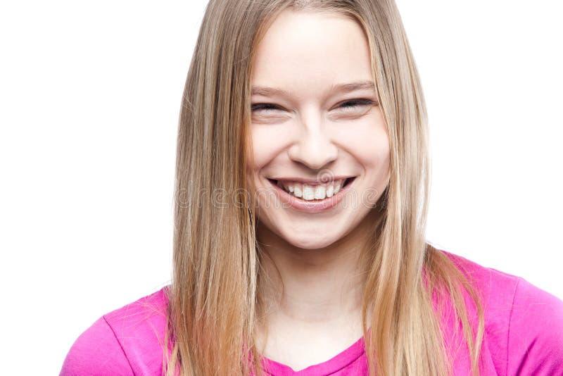 Портрет конца-вверх красивой молодой женщины стоковая фотография rf