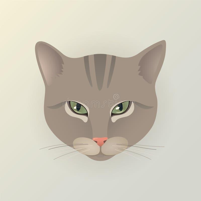 Портрет кота дамы иллюстрация штока