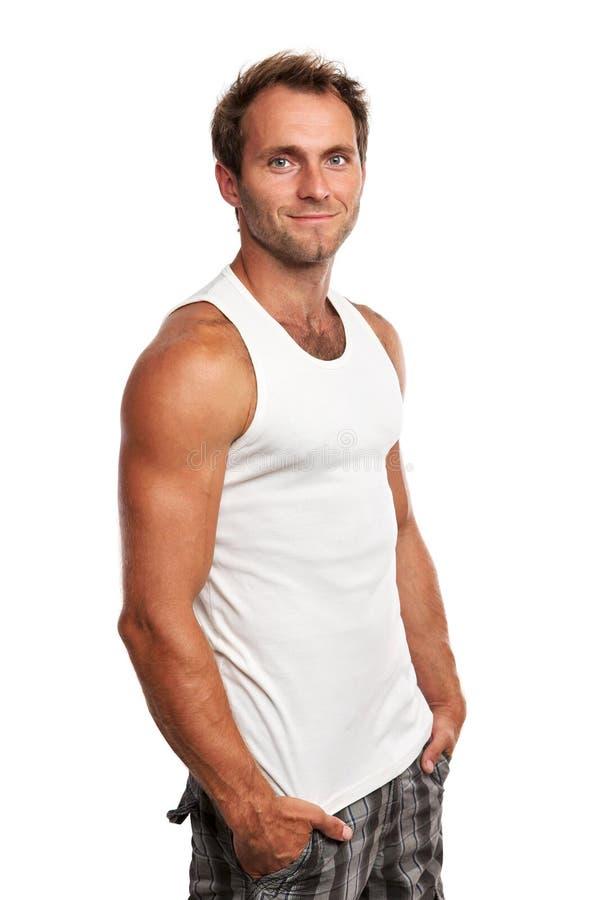 Портрет красивого молодого человека с руками стоковые фотографии rf