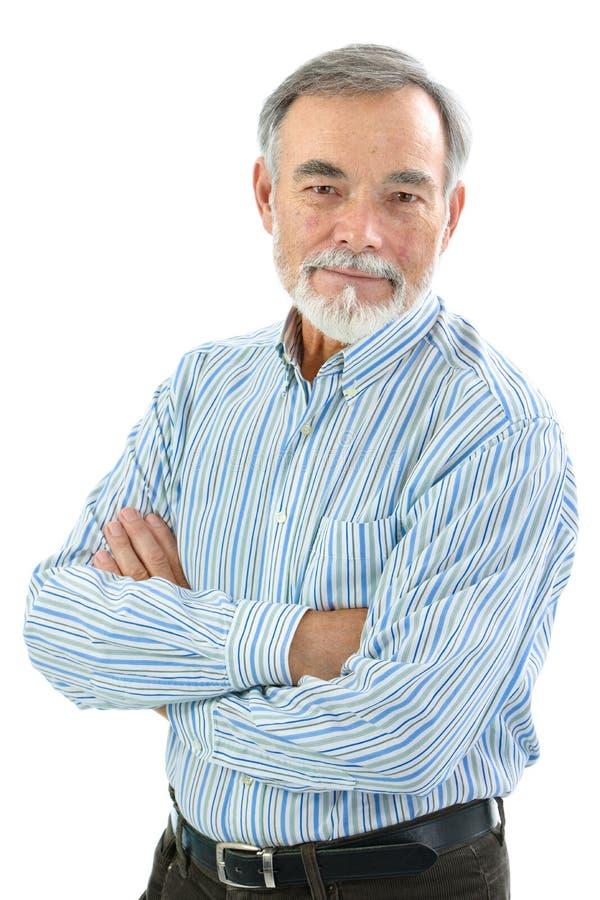 Портрет красивого старшего человека стоковое фото rf
