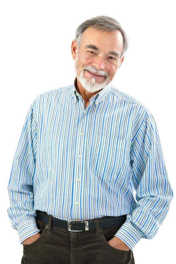 Портрет красивого старшего человека стоковое изображение rf