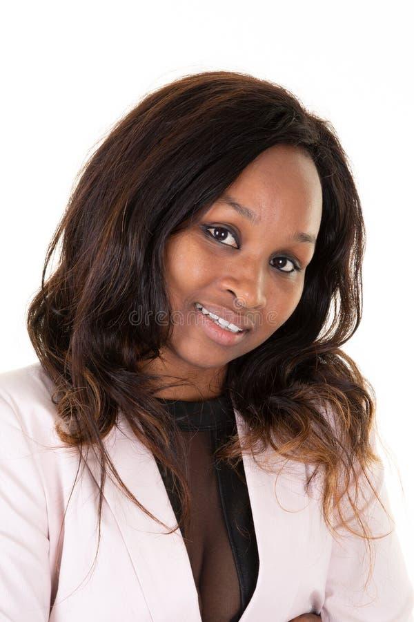 Портрет красивой Афро-американской женской модели молодой женщины стоковое изображение rf