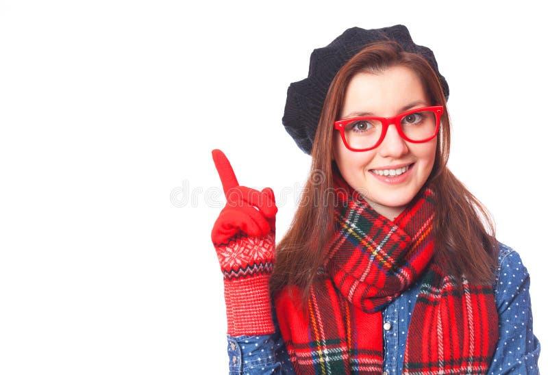 Портрет красивой девушки брюнет. стоковые фотографии rf