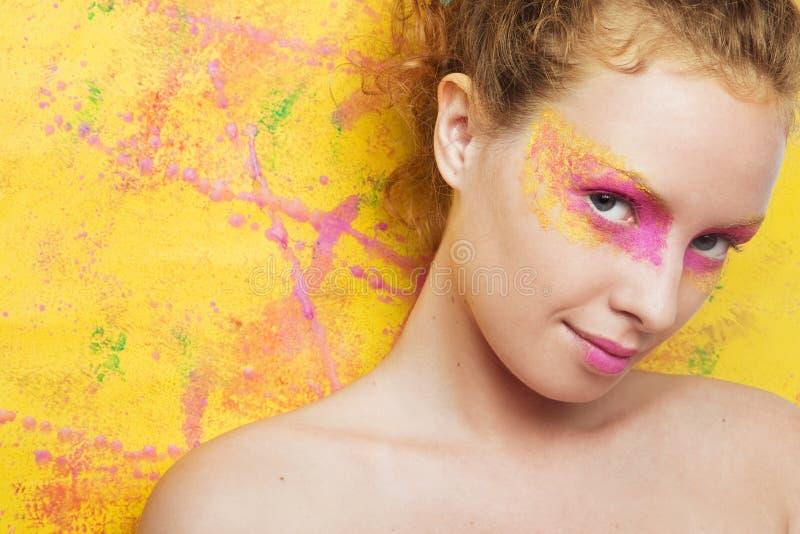 Портрет красивой женщины стоковое изображение rf