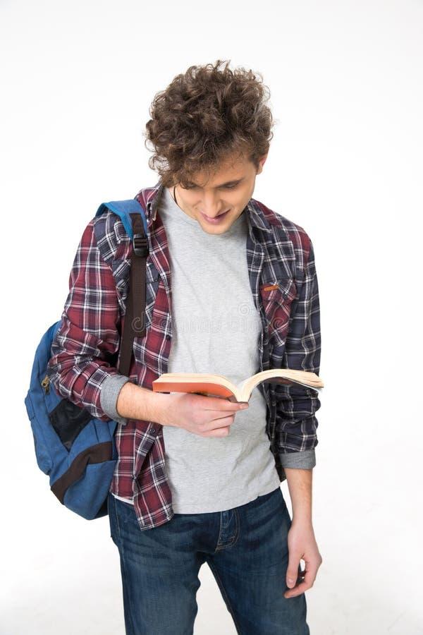 Портрет красивой книги чтения человека стоковое изображение rf