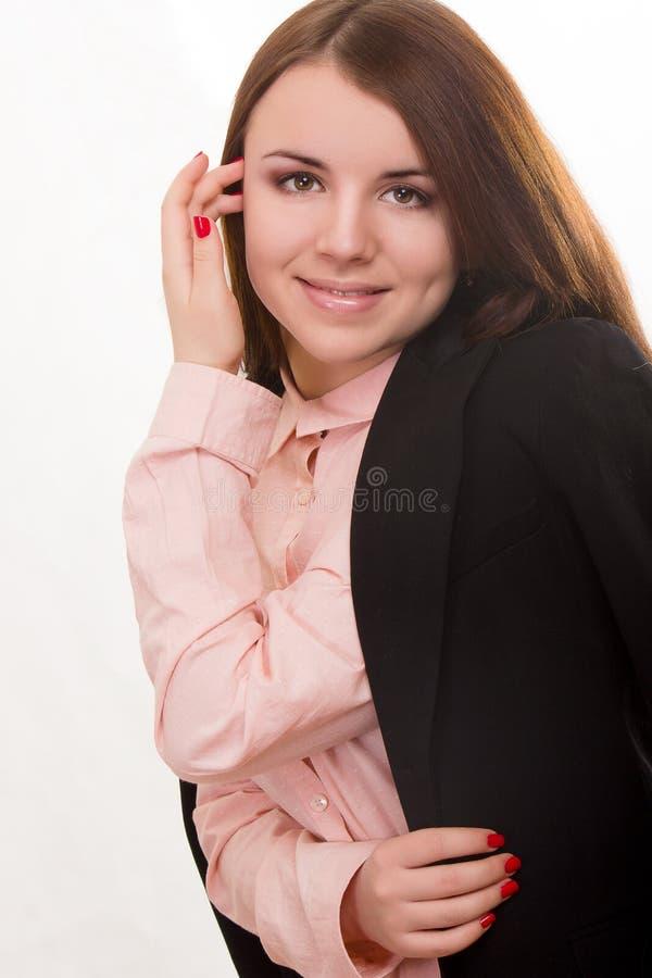 Портрет красивой молодой женщины стоковые фотографии rf