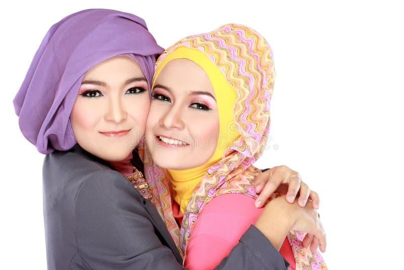 Портрет красивой мусульманской женщины 2 имея потеху стоковое изображение rf