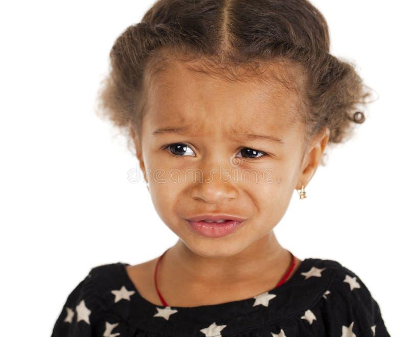 Портрет красивой счастливой маленькой девочки стоковые фотографии rf