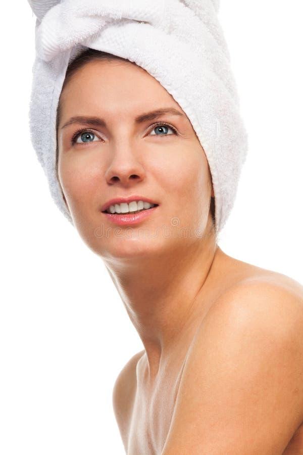 Портрет красотки ванны стоковое изображение rf