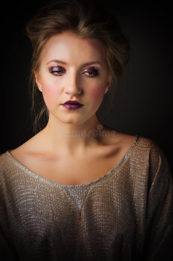 Портрет красотки маленькой девочки стоковое фото rf