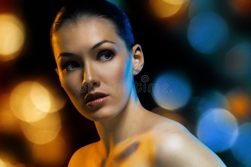 портрет красотки стоковые фото
