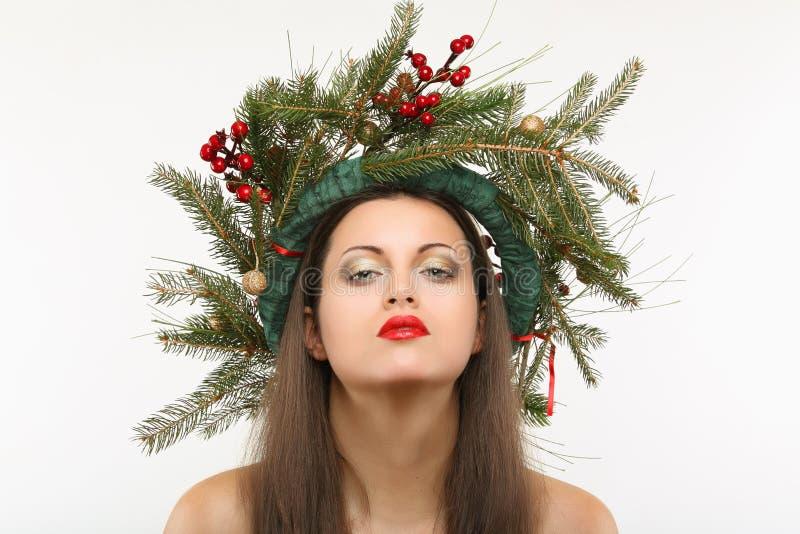 Портрет красоты рождества стоковые изображения rf