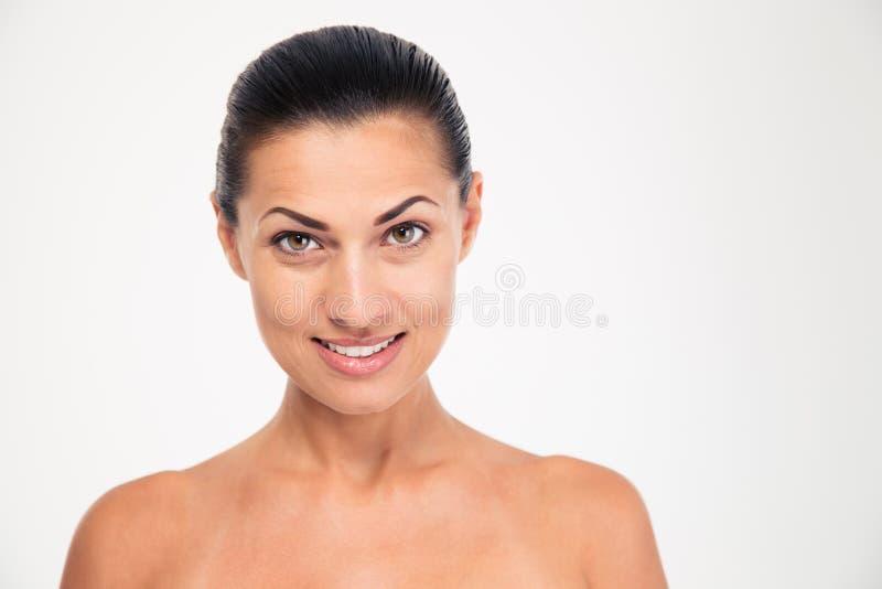 Портрет красоты счастливой женщины с свежей кожей стоковые фото