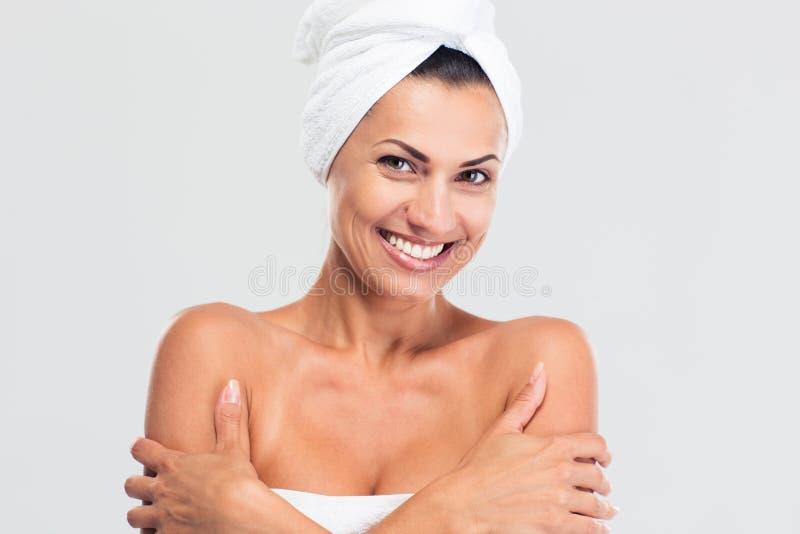 Портрет красоты усмехаясь милой женщины стоковая фотография