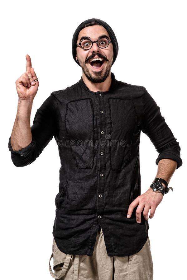 Портрет крупного плана молодого, усмехающся, счастливый студент коллежа стоковые изображения rf