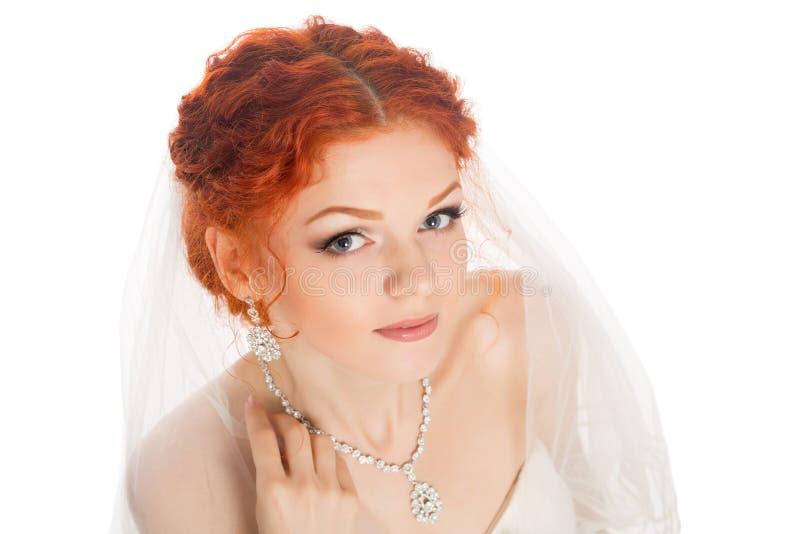 Портрет крупного плана невесты стоковая фотография rf