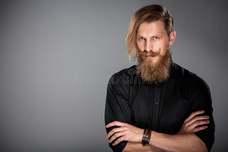 Портрет крупного плана человека битника стоковые фото