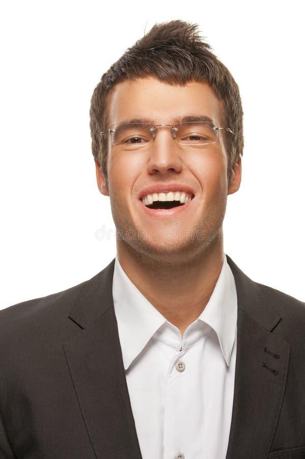 Портрет куртки молодого темн-с волосами человека нося стоковые фотографии rf