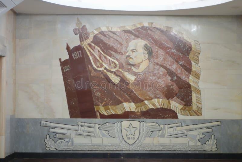 Портрет Ленина в Москве стоковое изображение rf