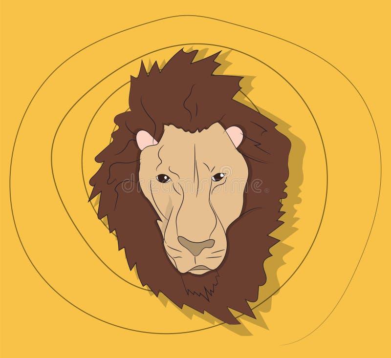 Портрет льва, на покрашенной предпосылке бесплатная иллюстрация