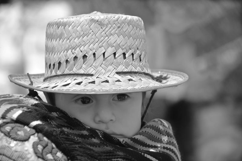 Портрет майяского младенца стоковое фото