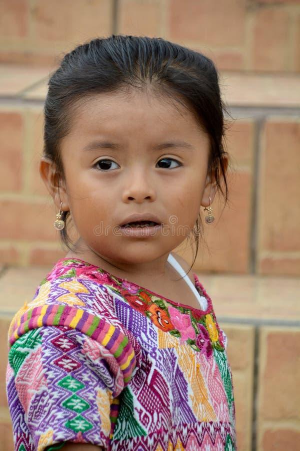 Портрет майяского ребенка стоковое фото rf