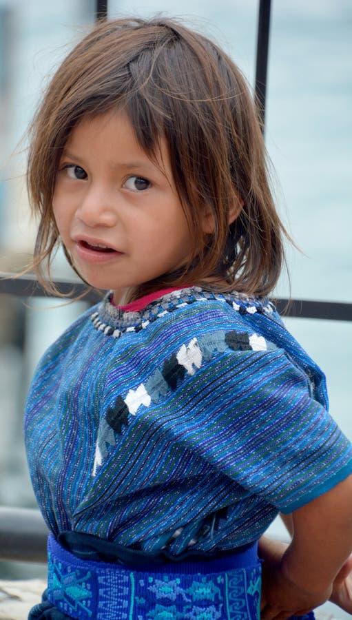 Портрет майяского ребенка стоковые изображения rf