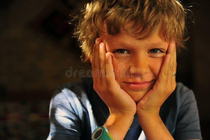 портрет мальчика милый стоковые изображения