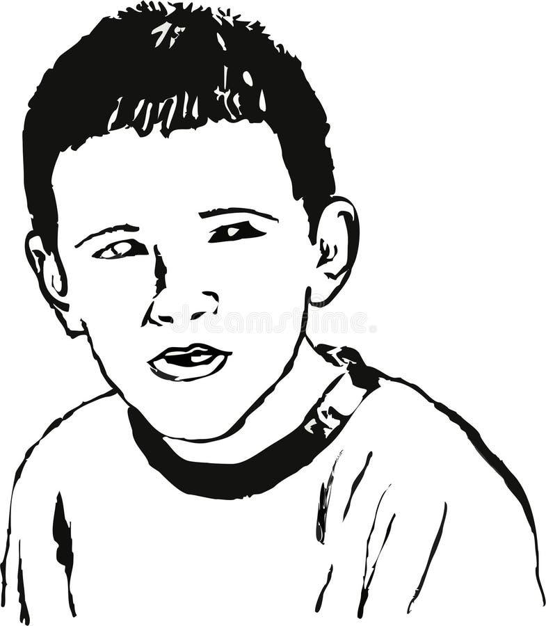 портрет мальчика иллюстрация штока