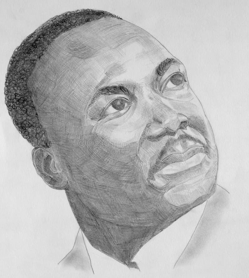 Портрет Мартин Лутюер Кинг иллюстрация вектора
