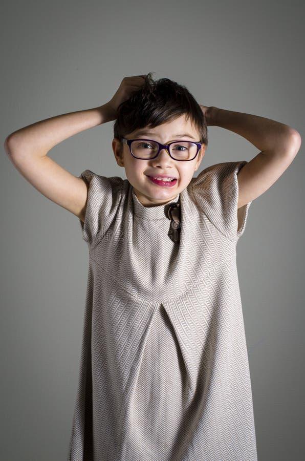 Портрет маленького ребенка с синдромом Rett стоковое изображение rf