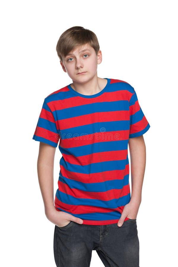 Портрет мальчика подростка осадки стоковое изображение rf