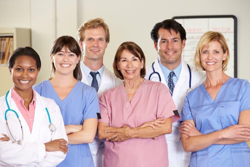 Портрет медицинской бригады стоковое изображение rf