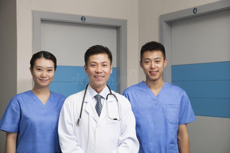 Портрет медицинской бригады стоковая фотография rf