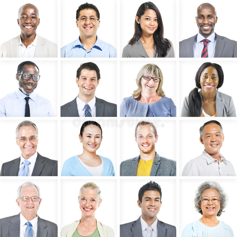 Портрет многонациональных разнообразных бизнесменов стоковые изображения