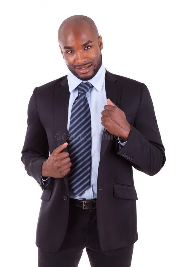 Портрет молодого бизнесмена афроамериканца стоковое фото rf
