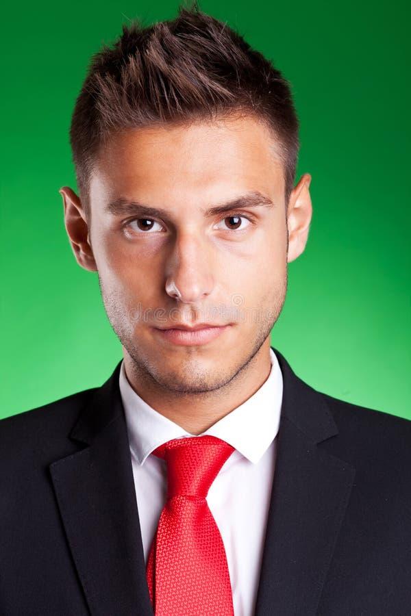 Портрет молодого красивого бизнесмена стоковое фото rf