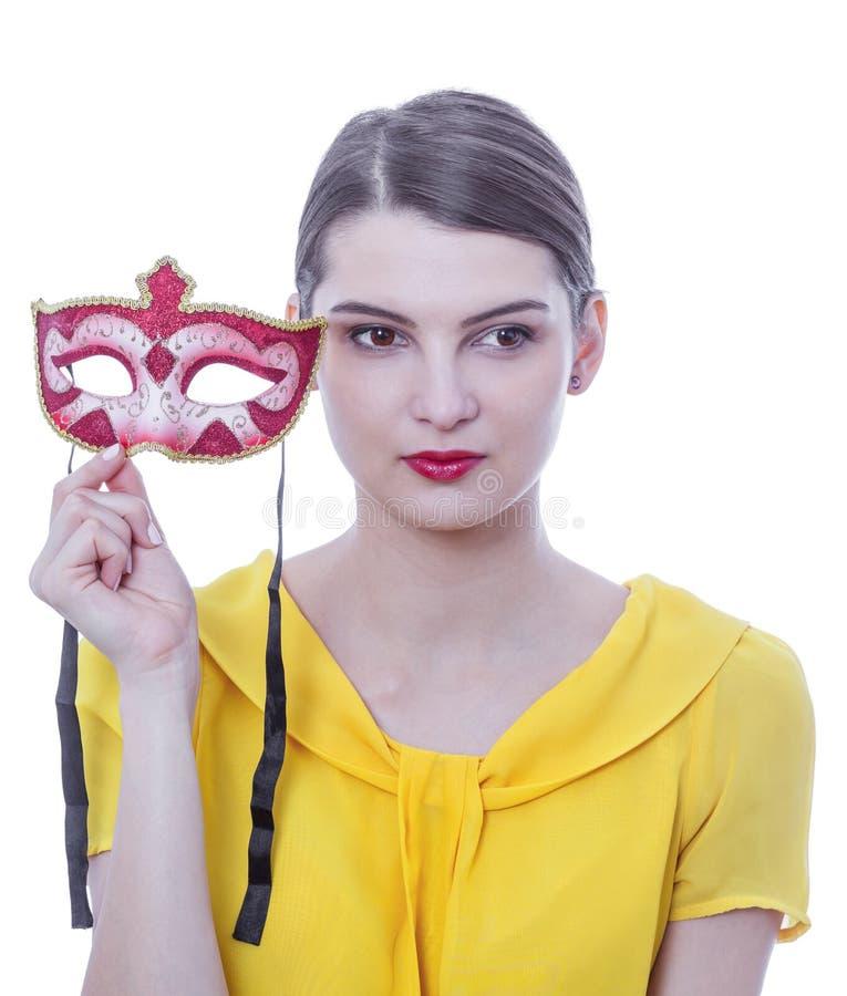 Портрет молодой женщины с маской стоковые фото