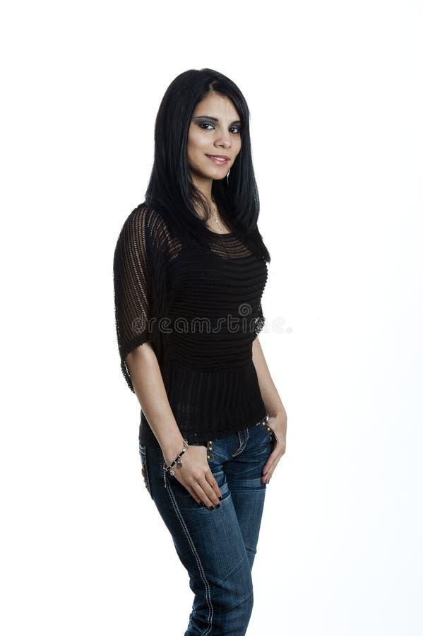 Портрет молодой испанской женщины стоковая фотография rf