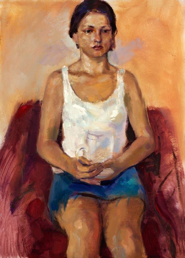 Портрет молодой повелительницы иллюстрация штока