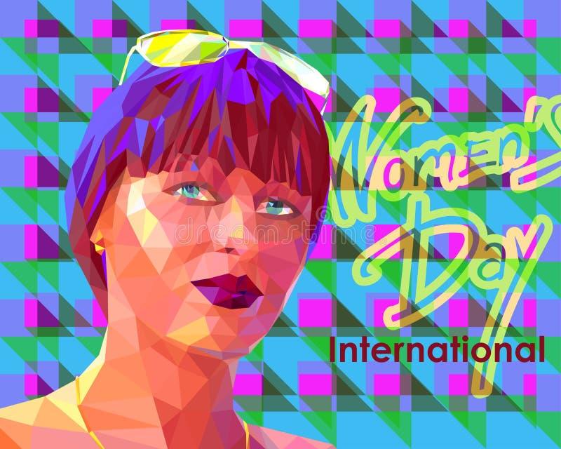 Портрет молодой привлекательной молодой женщины бесплатная иллюстрация