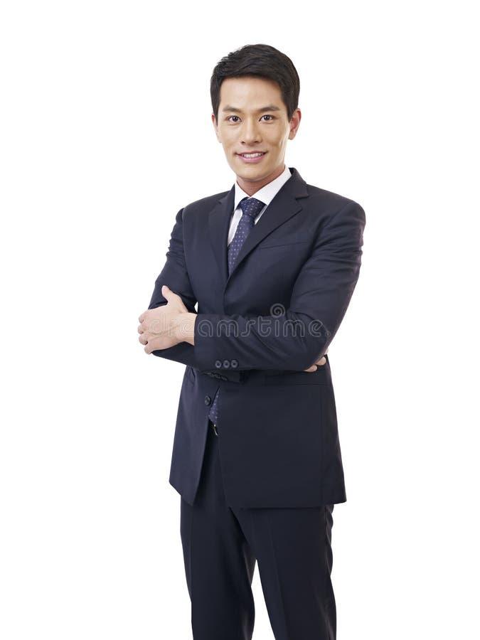 Портрет молодого азиатского бизнесмена стоковое фото rf