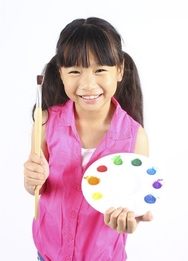 Портрет молодого милого художника девушки стоковые изображения