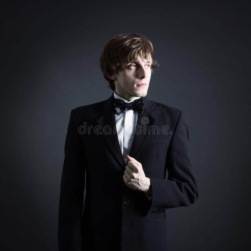 Портрет молодого мужского художничества стоковая фотография rf